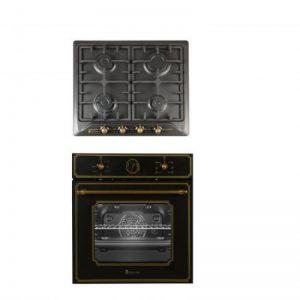 Pachet Incorporabil Cuptor Electric Si Plita Gaz Studio Casa Toscana Black Rustic